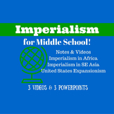 Imperialism Unit Notes and Videos for Middle School
