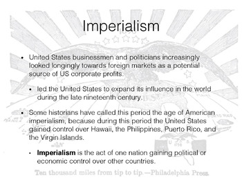 Imperialism & WWI PowerPoint