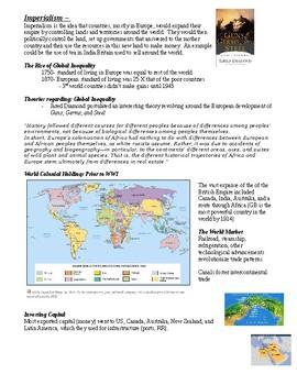 Imperialism Worksheet Bundle