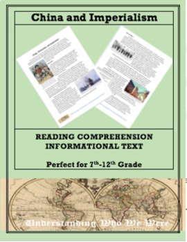 Imperialism and China--Informational Text Worksheet