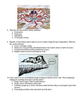 Imperialism and Nationalism quiz