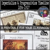 Imperialism and Progressive Movement Timeline {A Printable for Your Classroom}