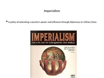 Imperialism and WWI Unit Plan