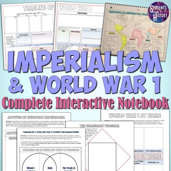 Imperialism and World War 1 Interactive Notebook Pages