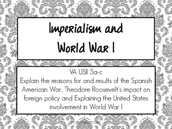 Imperialism and World War I - Task Cards