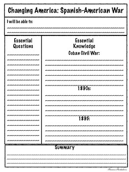Imperialism and World War I - US History 1865 to Present Cornell Notes
