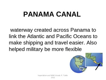 Imperialism and World War One Vocabulary Flashcards