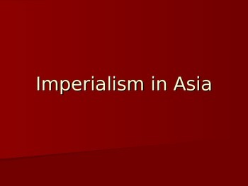 Imperialism in Asia