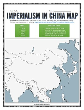 Imperialism in china map activity by history matters tpt imperialism in china map activity gumiabroncs Gallery