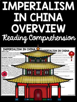 Imperialism in China Reading Comprehension Worksheet (overview)