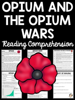 Opium and Opium Wars in China Reading Comprehension Worksheet; Imperialism