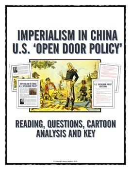 Imperialism in China - USA Open Door Policy - Reading, Questions, Cartoon