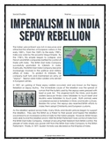 Imperialism in India - Sepoy Rebellion (Reading, Questions, Research)
