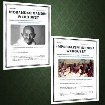 Imperialism in India - Resource Bundle (PowerPoint, Project, Webquests)