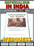 Imperialism in India - Webquest with Key