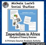 Imperialism of Africa 4-Thought Organizer Reading Guide & Lesson Materials