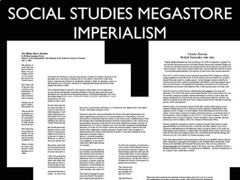 Imperialism Primary Source and Charles Darwin Reading
