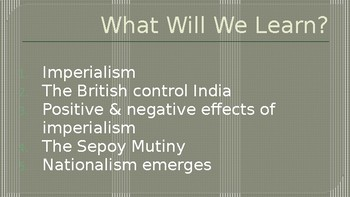 Imperialism to Independence British Imperialism PowerPoint Lecture