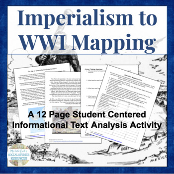 Imperialism to WWI Mapping Activity