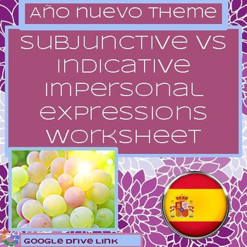 Impersonal Expressions Spanish Subjunctive Worksheet