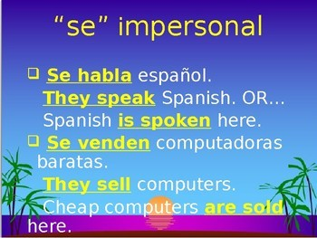 Impersonal 'se'