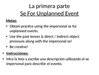 Impersonal se unplanned events review
