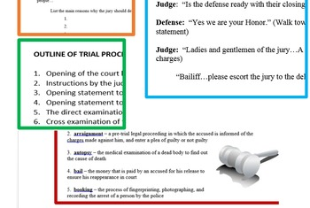 Implementing a Mock Trial - Student Handouts