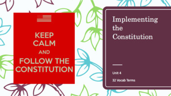 Implementing the Constitution PPT