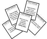 Implicit Bias Quiz Cards (and answer sheet)