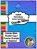 Implicit Derivative & Application Doodle Notes