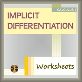 Calculus : IMPLICIT DIFFERENTIATION(2 WS - typed sol) - Distance Learning