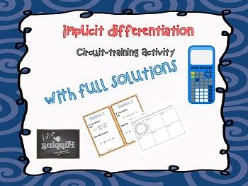Implicit Differentiation Circuit Activity