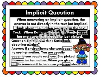 Implicit Question Anchor Chart