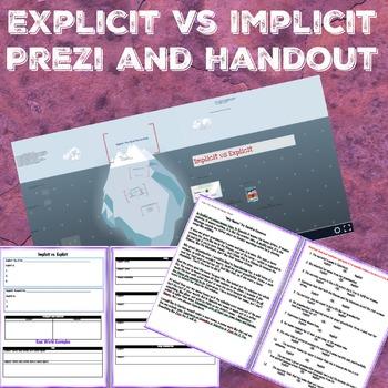 Implicit Vs. Explicit Prezi with handout