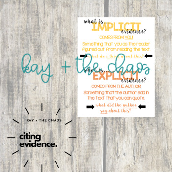 Implicit vs. Explicit Evidence Anchor Chart