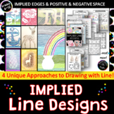 Implied Line Designs! Easy Seasonal Art Elements Line Art Project or Sub Lesson!