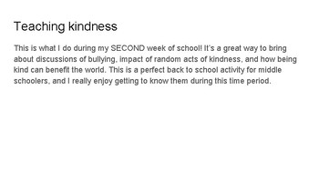 Importance of Kindness paper
