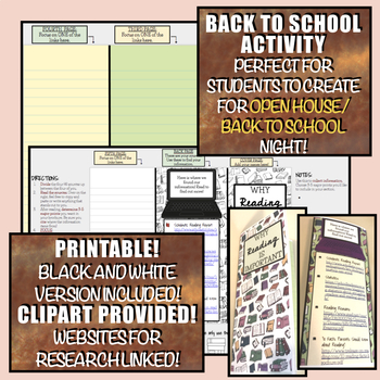 Importance of Reading Brochure Template: Back to School / Open House Activity