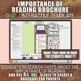 Importance of Reading Brochure: Back to School DIGITAL Activity