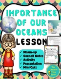 Importance of our Oceans Lesson: Climate Change, Plankton, Water Cycle
