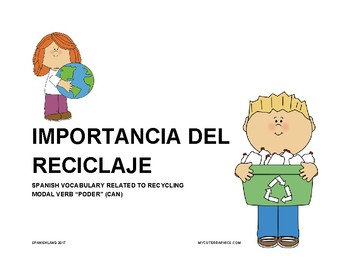 Importancia del reciclaje / Recycling Reading Activity Package in Spanish