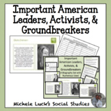 Important American Leaders, Activists, Groundbreakers Biography Cards Activity