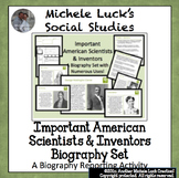 Important American Scientists & Inventors Biography Centers Project Activity