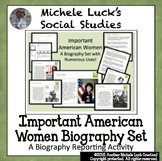 Important American Women Biography Centers Women's History Month Activity