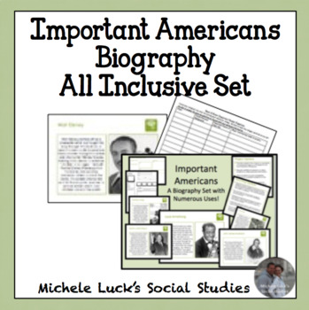 Important Americans Biography Activity Set - 50+ People All Inclusive