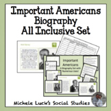 Important Americans Biography ALL INCLUSIVE Activity Set -