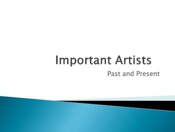 Important Artists 3rd grade TEKS