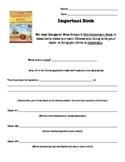 Important Book Writing (Brainstorm Organizer)
