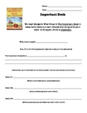 Important Book Writing (Brainstorm Organizer)