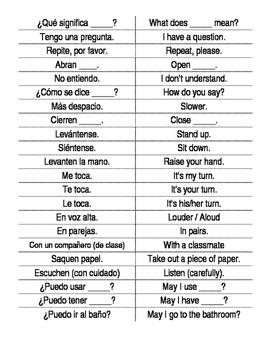 Important Classroom Phrases
